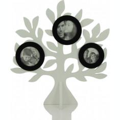 Rama din lemn , cu 3 fotografii , forma Copacul Vietii , 35x33cm
