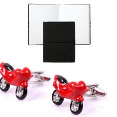 Set Butoni Borealy Red Motorcycle si Note pad Black Hugo Boss