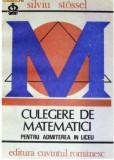Culegere de matematici pentru admitere in liceu  S. Stossel