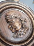 Farfurie de lemn decorativa, General