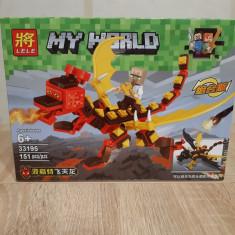NOU/SIGILAT Set de 151 piese tip lego Minecraft LELE 33195-3