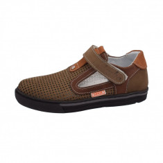 Pantofi copii, din piele naturala, Hobby bimbo, 5-40, kaki