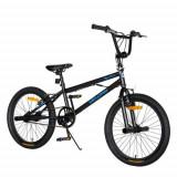 Cumpara ieftin Bicicleta BMX VELORS V2016A, roti 20inch, cadru otel 14inch, frane V-Brake (Negru/Albastru)