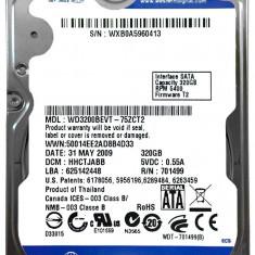 HDD Western Digital WD Blue wd3200bevt-75zct2 2.5-Inch 320GB 320 giga SATA 1 2 3