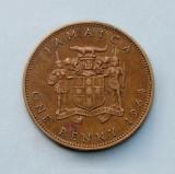 JAMAICA  -  1 Penny 1964  -  Elizabeth II