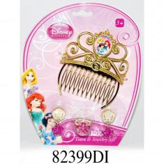 Set diadema si bijuterii Disney 3 New Princess, 4 piese, 3 ani+