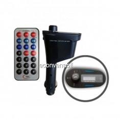 Modulator FM Auto cu Wireless, Telecomanda, Display, USB si SD
