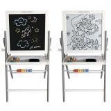 Set Tabla Magnetica Educativa pentru copii, 4 in 1, Pliabila, cu Abac si Accesorii
