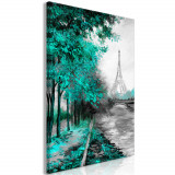 Tablou canvas - Parcul Canal Verde - 80 x 120 cm, Artgeist