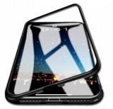 Husa protectie pentru Samsung Galaxy S7 Edge Magnetica Negru cu spate de sticla securizata premium