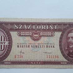 100 forint 1984 Ungaria bancnota
