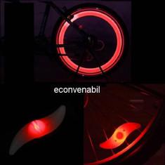 Set 4 Lumini Hot Wheels LED Rosu Decorativ pentru Spite Bicicleta