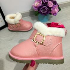 Cizme imblanite roz pal cu catarama pt copii fete bebe 24 25 26 27 28 29, 30, Din imagine