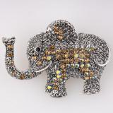 Cumpara ieftin Brosa metalica elefant cu pietricele aurii
