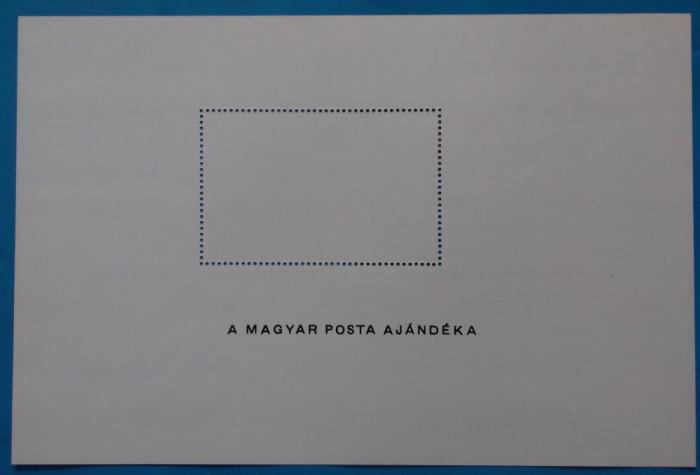 UNGARIA -1977-''ZEPELIN''-Colita-rara-cadou postei maghiare Mi.B127A -Scan verso