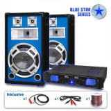 "Electronic-Star Set Blue Star PA Seria ""Basskick"" 1600 W, 1 amplificator și 2 difuzoare"