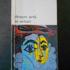 JEAN GIMPEL - DESPRE ARTA SI ARTISTI