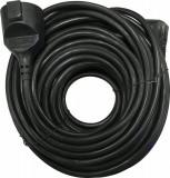 Cablu prelungitor 30m 1.5mm negru IP44, Well