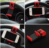 Suport pentru telefon cu prindere pe volan