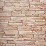 Tapet 3D, imitatie de piatra, crem, maro, spuma, bucatarie, HC11026-22