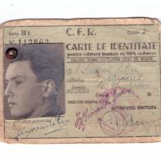 Legitimatie CFR reducere 50% student 1944/1945
