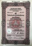 Obligatiune DAIMLER-BENZ 1000 ReichMark 1942