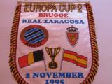 Fanion fotbal Club Brugge - Real Zaragoza FC, Europa Cup,1995
