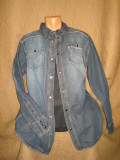 Camasa de blugi barbati/barbateasca/Jeans/ marca LEE COOPER/marime XL/vintage, XL/XXL, Maneca lunga, Indigo