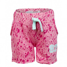 Pantaloni scurti Minoti fete burn-out design roz