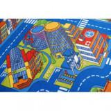 Covor copilăresc Strazi Big City albastru, 100x500 cm