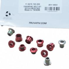 Chain Ring Bolt Kit 4X3 Alumum Ss Red