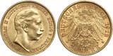 Monedă din Aur – 20 Mărci Wilhelm al II-lea Germania 7,96 grame