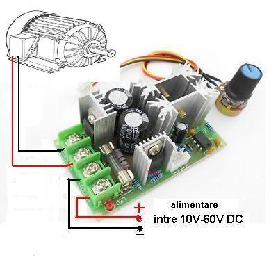 REGULATOR de TURATIE ptr. MOTOR in curent contiunuu cu consum de max. 20 Amperi