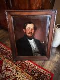 Tablou biedermeier - semnat datat 1850, Portrete, Ulei, Impresionism