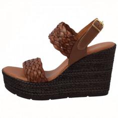 Sandale dama, din piele naturala, marca Carla Sellini, 9882252-02-120, maro , marime: 40