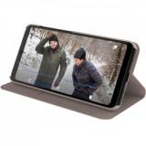 "Nokia 5.1 Plus - Husa Flip tip ""Entertainment"", deschidere orizontala - Crem"