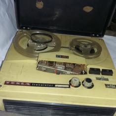 Magnetofon Tesla B41 cu tranzistorMagnetofon vechi Defect.pt.Piese,T.GRATUIT