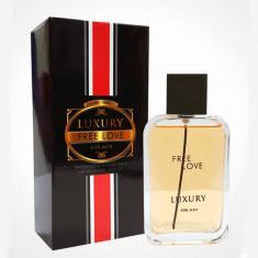 Apa de toaleta pentru barbati Luxury Free Love, 100 ml, Negru