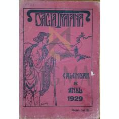 """CALENDARUL """" DACIA TRAIANA """" PE ANUL 1929"""