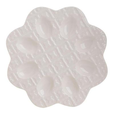 Platou Ivory din ceramica pentru oua 27.5 cm foto