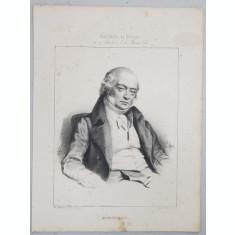 BERANGER , GRAVURA PE METAL , IMP. D'AUBERT et Cie , MIJLOCUL SEC. XIX