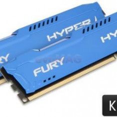 Memorii Kingston HyperX Fury Blue Series DDR3, 2x8GB, 1600 MHz