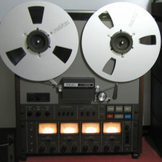 Magnetofon TEAC A-3440 cu NAB-uri +2 role Revox Alu. argintii, stare f.buna