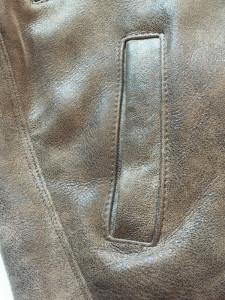 Cojoc barbatesc blana naturala culoare maro - purtat de 4-5 ori
