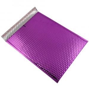 Set 100 plicuri cu bule antisoc, spatiu destinatar-expeditor, laminate, termoizolante, autoadezive Office Depot, 36x27 cm, Mov