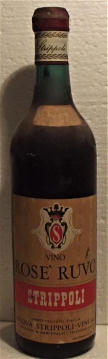 91 -VIN rose ruvo, strippoli , recoltare 1967 cl 72 gr 12,5