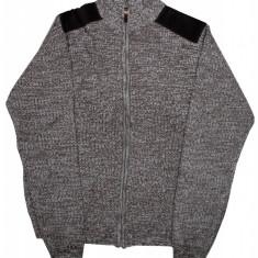 Pulover tricotat pentru barbati Urban Release, cu fermoar, Maro/Gri