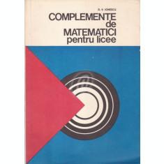 Complemente de matematici pentru licee (1978)