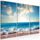 Tablou canvas 3 piese - Ultima vacanta - 120 x 80 cm, Artgeist
