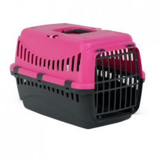 Cusca transport animale , Gipsy L , Plasitic 58X38X38 Pink Phanter Usa Metal Pet Star
